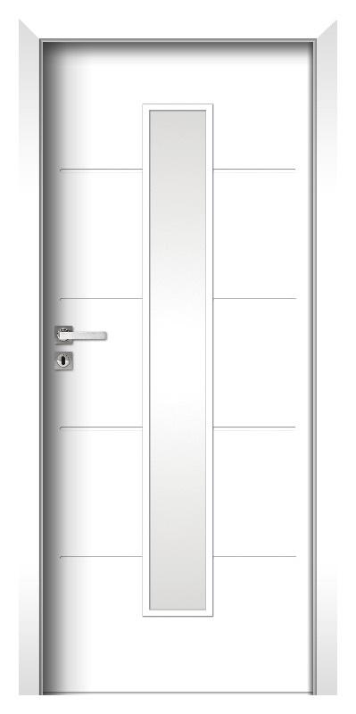 Binito 21 Gestrichene HDF Tür Weiss